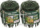 Decorative 0.65M / 10M Garden Border Wire Fencing Mesh Roll With Hooped Top