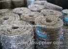 Weave Galvanized Stainless Steel Barbed Wire For Grass Boundary / Railway