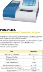 four-channel blood coagulation analyzer