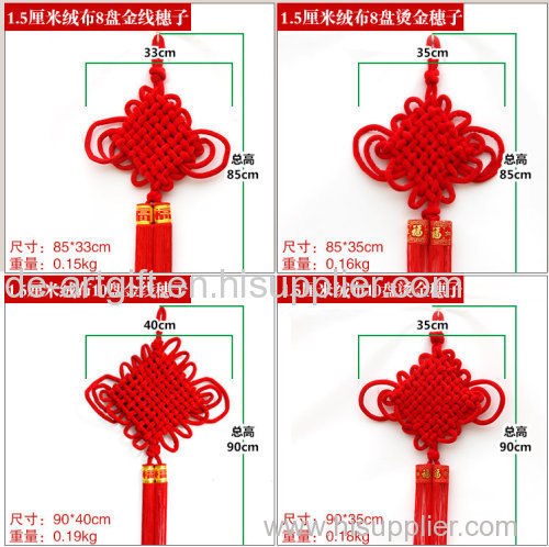 wholesale decorative red chinese good luck knots home decoration red chinese knots for chinese new year