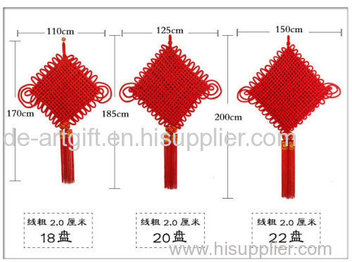 China Suppiler Home Decoration Handmade Red Chinese Knot With Tassel