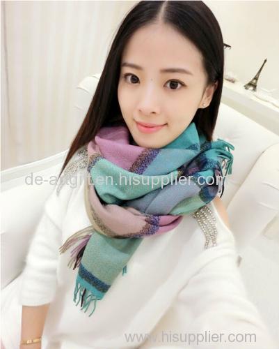 oversize plaid shawl scarf wholesale scarf pashmina scarf