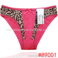 2016 New leopard cotton bikini briefs lady panties stretched cotton women temperament interest underwear thongs lingerie