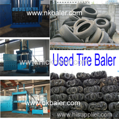 Used Tire recycling baler