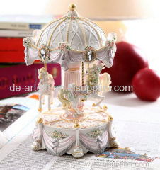 resin carousel handicrafts products carousle horse for sale