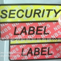 Competitive Price Fragile Non Removable Sticker Tamper Evident Brittle Adhesive Security Seal Label Sticker