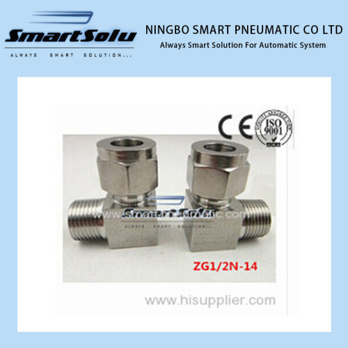 Free shipping Stainless 90 Compression Adapter Connector Fittings