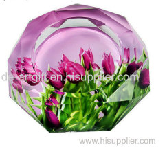 Resin picture decor Ashtray for promotion