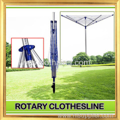 4- Arm Aluminum Outdoor Rotary Clothes Dryer with 60 Meter Drying Space