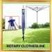 4- Arm Aluminum Outdoor Rotary Clothes