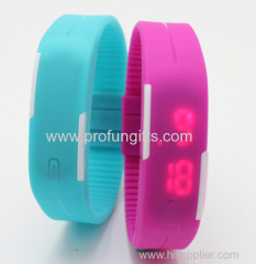 Promotion gift Waterproofed LED touch running silicone bracelets Watch