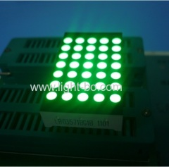 Pure Green 3mm 5*7 dot matrix led display row anode column cathode for lift position indicator