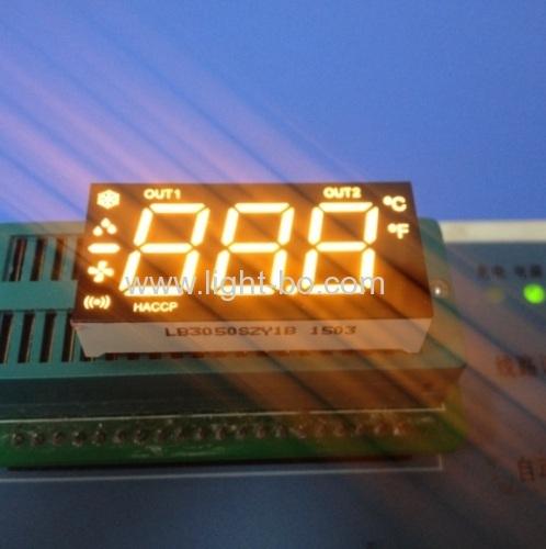 Custom ultra blue 3 1/2 digit led 7 segment display for refrigeration indicator