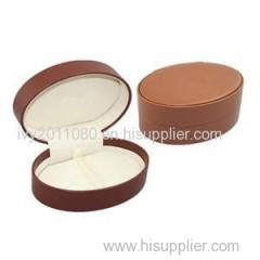 Oval Leather Sunglasses Box