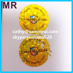 Excellent factory directly custom holographic security label tamper evident stickers