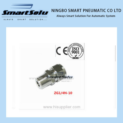 Free shipping Stainless Compression Fitting pneumatic Fitting