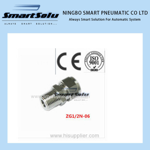 Straight terminal pneumatic fittings