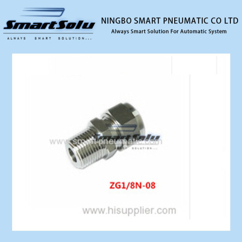 Stainless Compression Fitting thread x 8mm Straight terminal fittings