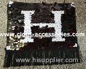 Fringe Shape Sequin Clothing Appliques Embellishments Black And White