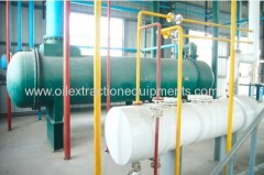 Solvent recovery device in the cooking oil extraction machine