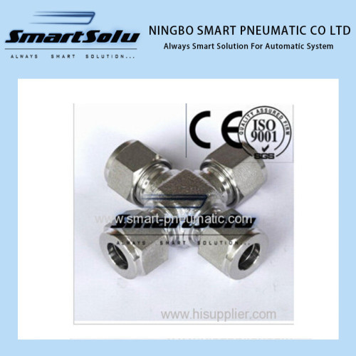 Double Ferrule High Pressure Stainless Steel Fitting