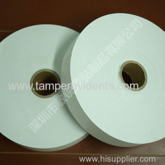 China best manufacturer of destructible Eggshell vinyl paper roll hotsale cheap security label paper with high quality