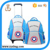 Waterproof backpack trolley school bag with wheel