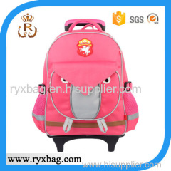 Kids 3D trolley school bag