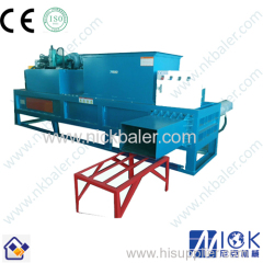 hydraulic rice husk bagging machine