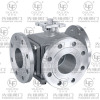 Flanged 3-way ball valve