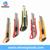 9mm 18mm 25mm blade sliding safety utility cutter knife
