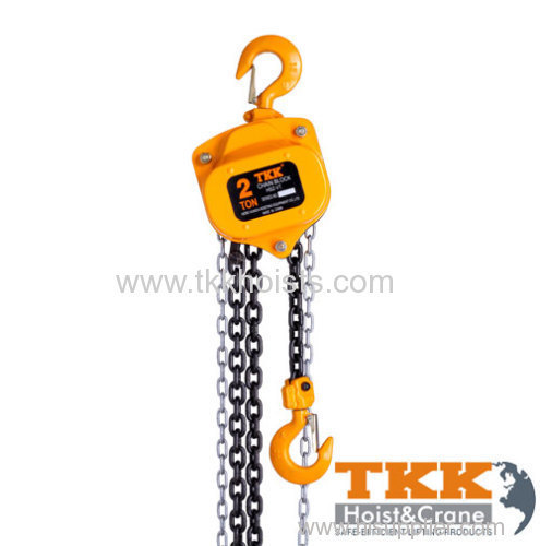 2Ton Rated Capacity Chain Pulley Block With Heat Treat Lifting Hook