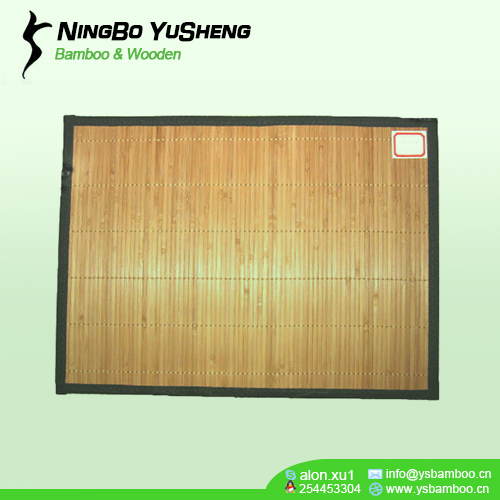 natural carbonize color bamboo table mat