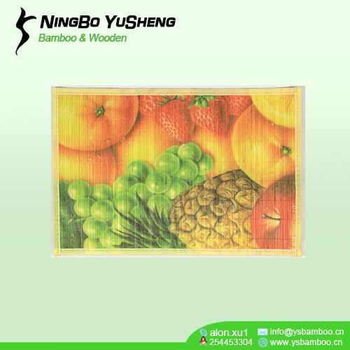 printing Attractive design bamboo table mat