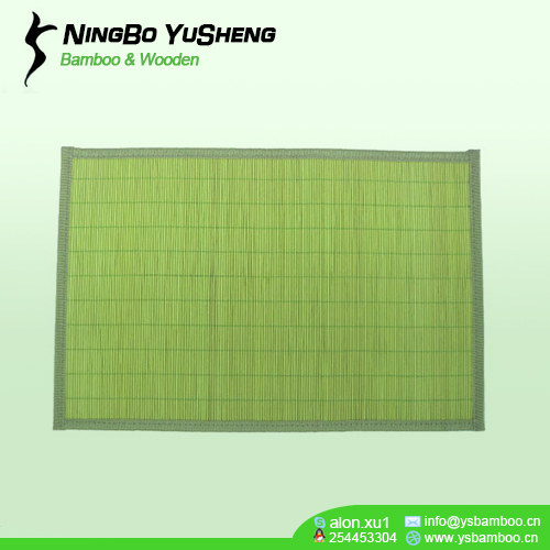 natural solid bamboo table placemat