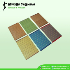 Solid color woven bamboo placemat