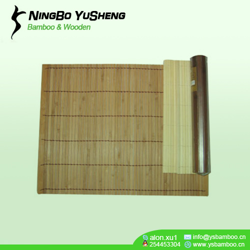 carbonized line bamboo placemat