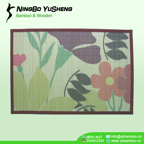 pattern bamboo table mat