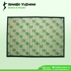 natural green bamboo placemat