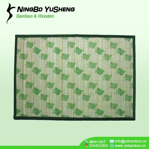 natural green bamboo placemat