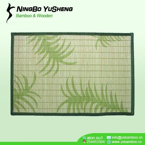 Printing design bamboo place mat