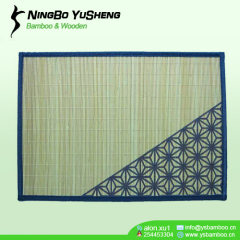 Printing design bamboo table mat