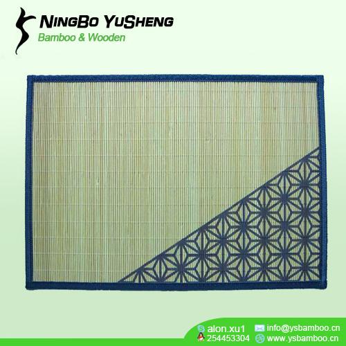Printing design bamboo table mat