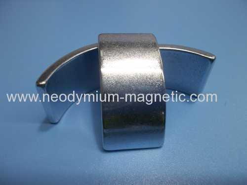 N38SH rare earth neodymium arc magnet for lift machine