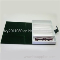 Compartments Leather Sunglasses Box