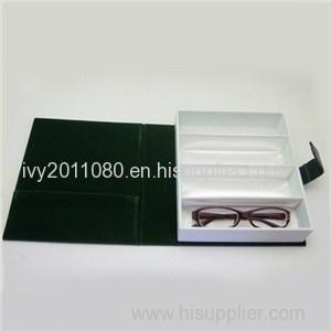 Compartments Leather Sunglasses Box