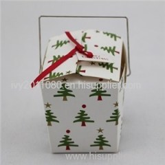 Christmas Tree Printed Cake Box