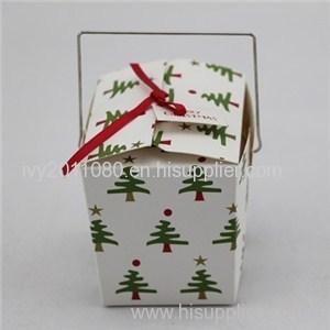 Christmas Tree Printed Cake Box
