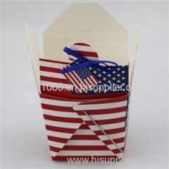Flag Printing Cardboard Cake Box