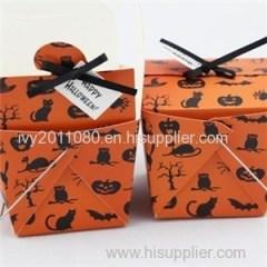 Halloween Paper Cake Box